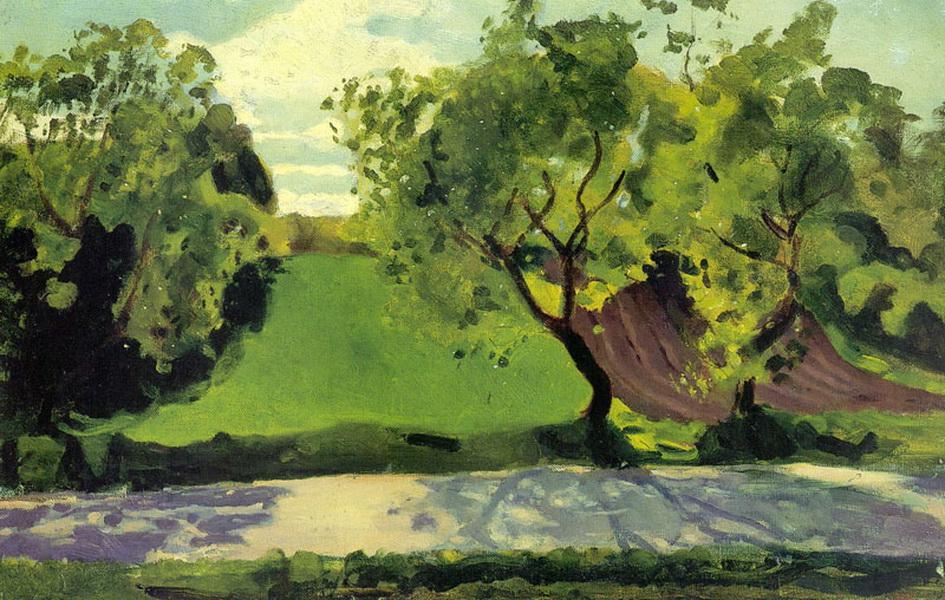 Зеленый склон за дорогой. Мартышкино (1902 г.)