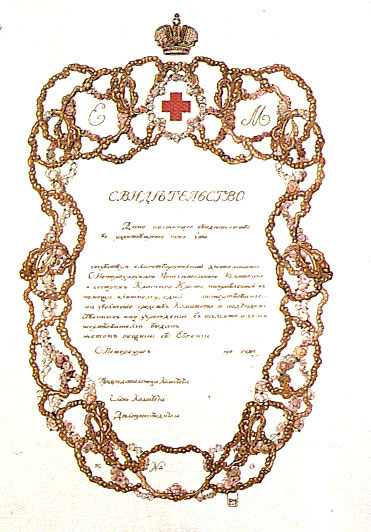 Свидетельство (1903 г.)