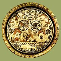 Менелай и Гектор в битве над телом Эвфорба. Блюдо с острова Родос. VII в. до н.э.