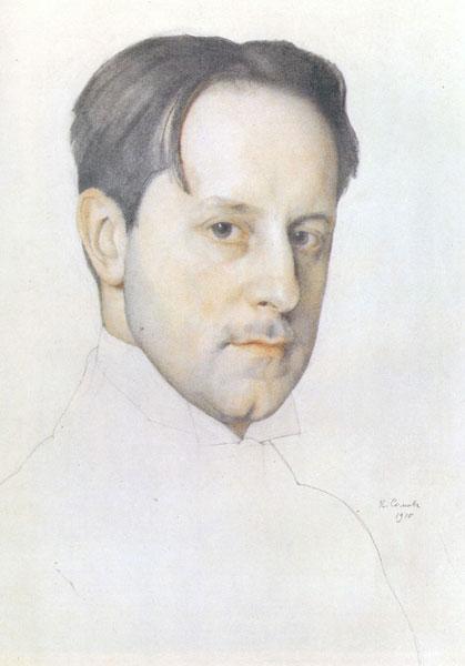 1910 год. К.А. Сомов. Портрет Мстислава Добужинского.