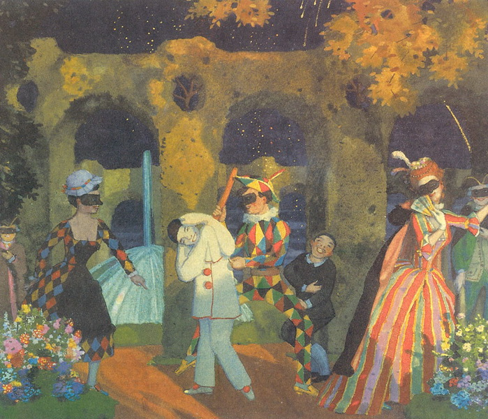 Итальянская комедия. Вариант (1914 г.)