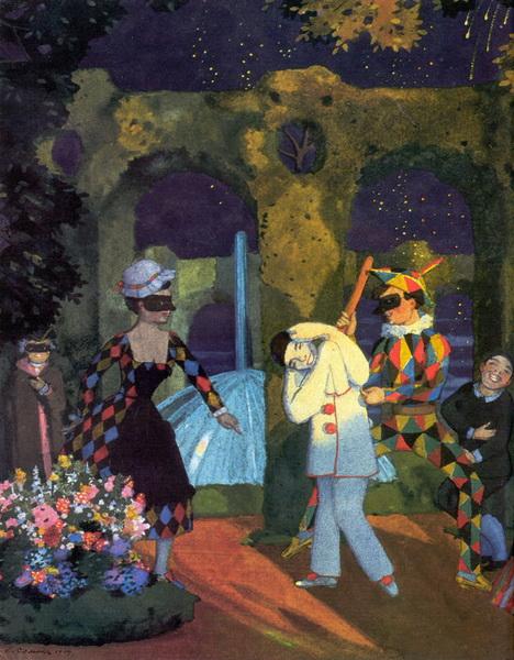 Итальянская комедия. Фрагмент (1914 г.)