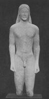 Курос из храма Аполлона Птооса в Беотии, VI в. до н.э.