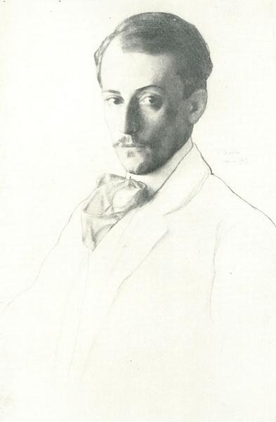 Портрет художника Е.Е. Лансере (1907 г.)