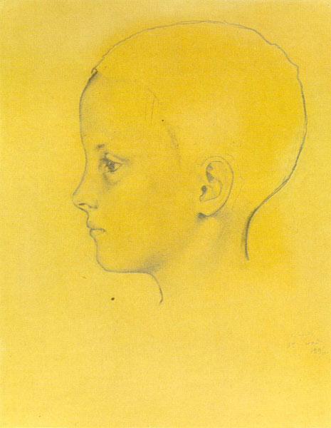 1896 год. К.А. Сомов. Портрет девочки Ольги.