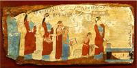 Жертвоприношение (Живопись на дереве. VI в. до н. э. Афины. Национальный музей)