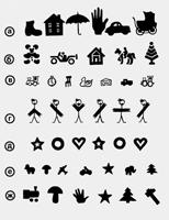 Знаки для определения остроты зрения у детей