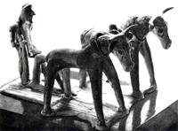 Пахарь. Терракота из Беотии. VIII в. до н.э.
