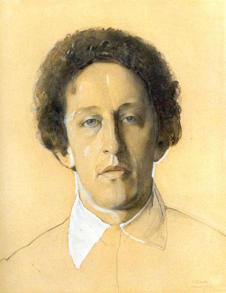 1907 год. К.А. Сомов. Портрет Александра Блока.