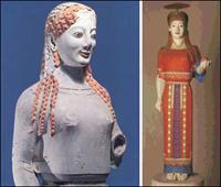 Кора в пеплосе (Мрамор. Около 530 до н.э. Музей Акрополя. Афины)