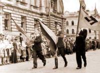Парад добровольцев дивизии СС Галичина