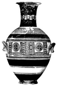 Ваза с геометрическим орнаментом. IX в. до н.э.