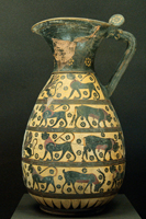 Протокоринфская ольпа с изображением животных и сфинксов (Ок. 650—630 гг. до н.э. Лувр)