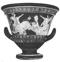 Геракл и Антей (Роспись краснофигурного кратера Евфрония. 510-505 гг. до н.э.)