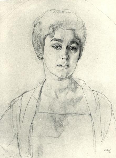 Портрет Н.Г. Высоцкой (1917 г.)