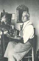 К. Сомов за работой (1936 г.)