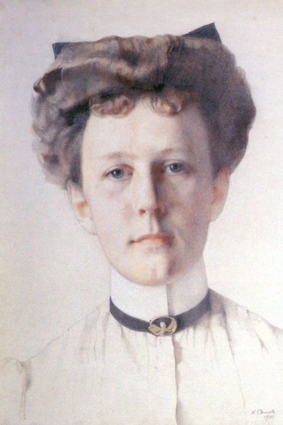 1911 год. К.А. Сомов. Портрет Александры Нольде.