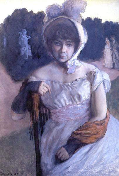 1896 год. К.А. Сомов. Портрет Анны Карловны Бенуа.