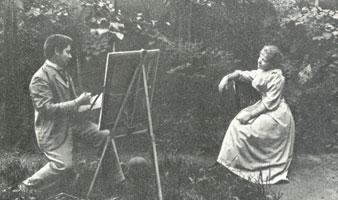 К. Сомов с сестрой Анной (Конец 1880-х гг.)